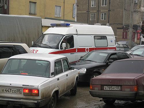 Забастовка водителей маршрутных такси в Махачкале парализовала движение.  1 февраля 2010 года.