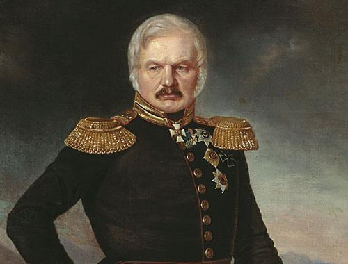 Портрет А. П. Ермолова кисти П. Захарова-Чеченца, приблизительно 1843 год. Истоник: http://ru.wikipedia.org