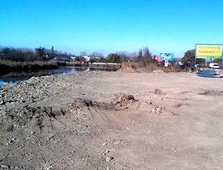 На месте отсыпки реки Анапка. Анапа, 20 ноября 2012 г. Фото Дмитрия Слабоды