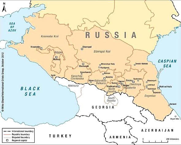 A. Карта Северного Кавказа