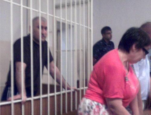 """Руслан Рахаев в зале суда во время вынесения приговора. Черкесск, 8 июля 2013 г. Фото """"Кавказского узла"""""""