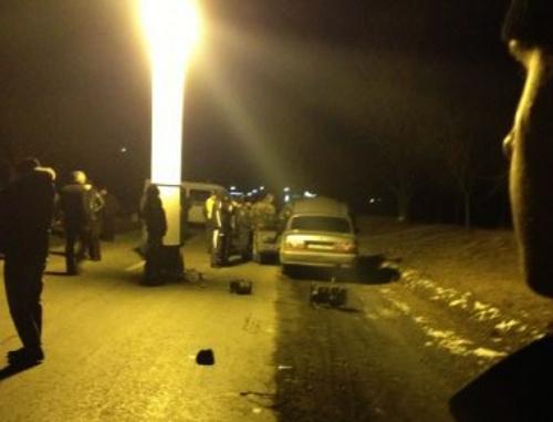 На месте убийства Ибрагима Дударова. Северная Осетия, Владикавказ, 26 декабря 2012 г. Фото: donifars@livejournal.com