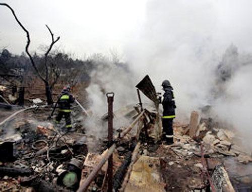 Пожар на магистральном газопроводе в Азербайджане, 11 января 2013 г. Фото: агентство международной информации «Новости-Азербайджан», http://newsazerbaijan.ru