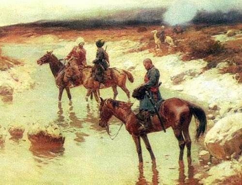 Горцы. (1885-1895), Франц Рубо. Фото http://ru.wikipedia.org/