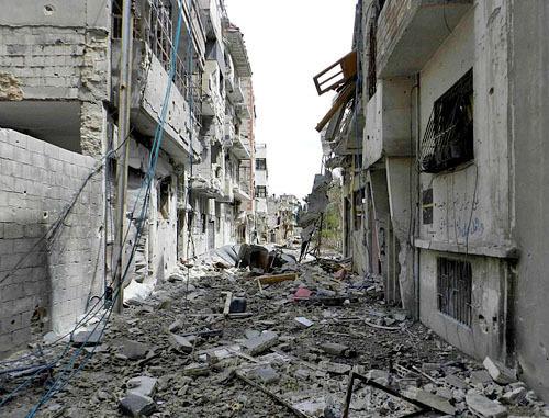 Разрушения в Хомсе, Сирия, июнь 2012 г. Фото: Bo yaser, http://commons.wikimedia.org/