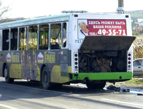 Взрыв в автобусе в Волгограде. 21 октября 2013 г. Фото: Пресс-служба МЧС