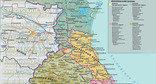 Карта Дагестана, административно-территориальное деление