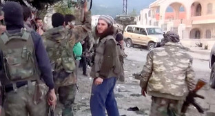 Боевики в провинции Латакия, Сирия. 25 марта 2014 г. Кадр из видео? размещенного на YouTube, http://www.youtube.com/watch?v=ER5H2Thyf5g