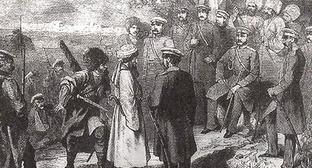 Сдача в плен Имама Шамиля (П. З. Захаров-Чеченец). Фото http://ru.wikipedia.org/