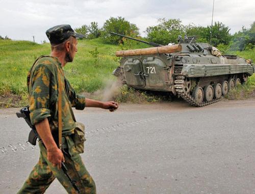 Вооруженный человек. Донбасс. Фото: Русская весна http://rusvesna.su/