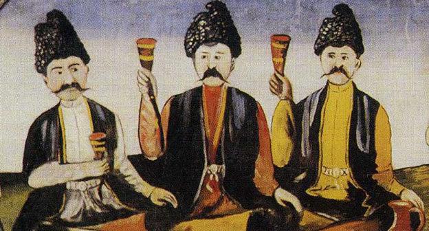 Нико Пиросмани. Кахетинский эпос (Алазанская долина). Фото http://allpainters.ru/