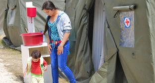 Беженцы с Украины, размещенные в палаточном городке в Ростовской области. Июнь 2014 г. Фото: ГУ МЧС России по Ростовской области