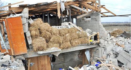 Бандитская база. Кабардино-Балкарская Республика, Баксанский район, 13 марта 2013 г. Фото http://nac.gov.ru/