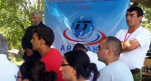 Участники форума BarCamp Artsakh 2014. Нагорный Карабах, Мартакертский район, село Цмакаох, 25 июля 2014 г. Фото с официальной страницы форума в сети Facebook, www.facebook.com/BarcampArtsakh