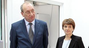 Глава Национального агентства продовольствия Грузии Зураб Чекурашвили (слева) Фото: http://www.fruitnews.ru/home-page/fruits/36851-o-vizite-predstavitelya-ministerstva-selskogo-khozyajstva-gruzii-v-fgbu-vniikr.html