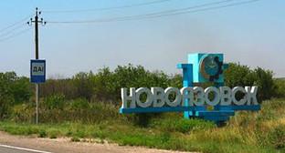 Въезд в город Новоазовск,Украина. Фото: http://www.62.ua/news/605312