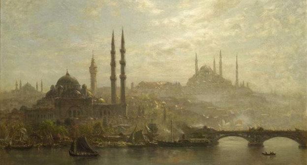 Вид Стамбула, 1910 г. Эрнст Кёрнер. Фото https://ru.wikipedia.org/