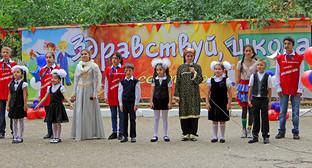 День знаний в школе Махачкалы. Фото пресс-службы главы Дагестана.