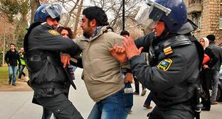 Акция протеста в поддержку жителей Исмаиллы. Баку, 26 января 2013 г. Фото Азиза Каримова для «Кавказского узла»