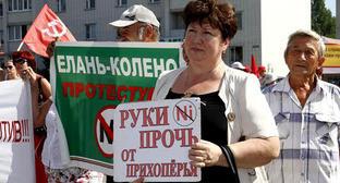 Митинг против добычи никеля в Черноземье. Воронежская область, август 2014 г. Фото http://kprf.ru/