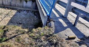"""Взрывное устройство обнаруженное на трассе """"Кавказ"""". КБР, 15 сентября 2014 г. Фото http://nac.gov.ru/"""