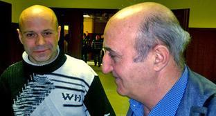 Дмитрий Павлюченков (слева) и Карен Нерсисян. Москва, 14 декабря 2012 г. Фото корреспондента «Кавказского узла»