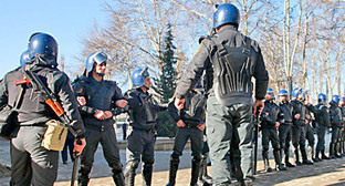 "Полиция на улицах Исмаиллы. Азербайджан, 24 января 2013 г. Фото Азиза Каримова для ""Кавказского узла"""