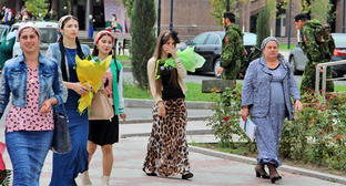 """День чеченской женщины в Грозном. 21 сентября 2014 г. Фото Магомеда Магомедова для """"Кавказского узла"""""""