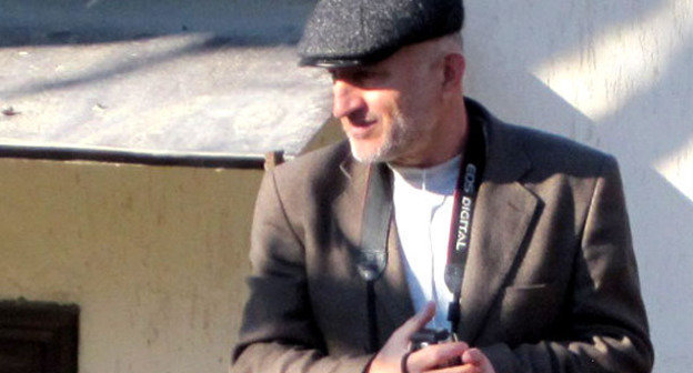 Ахмеднаби Ахмеднабиев на митинге в селе Гимры. Дагестан, Унцукульский район, 2012 г. Фото Гамзата Изудинова