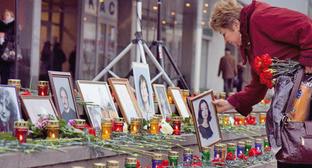 """Акция памяти жертв """"Норд-оста"""". Москва, 26 октября 2011 г. Фото: Yuri Timofeyev (RFE/RL)"""