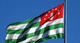 Флаг Абхазии. Фото: Нины Зотиной http://www.yuga.ru/