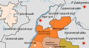 Карта Шалинского района Чечни. Фото: Дагиров Умар https://ru.wikipedia.org