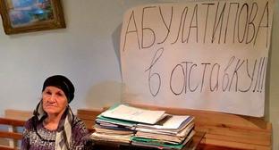 Участница голодовки Маржанат Арсланханова. Махачкала, 23 ноября 2014 г. Фото Руслана Магомедрагимова
