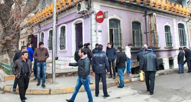 Штаб-квартира партии Народного фронта Азербайджана (ПНФА) после взрыва. Баку, 3 марта 2014 г. Фото Азиза Каримова для «Кавказского узла»