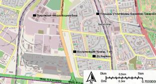 Карта с основными пунктами, связанные с беспорядками в Бирюлёве. Фото: Own https://ru.wikipedia.org