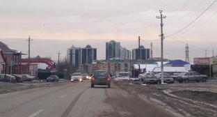 """Въезд в город Гудермес. Чечня. Фото Магомеда Магомедова для """"Кавказского узла"""""""