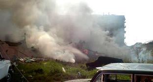Возле РОВД в Назрани после очередного теракта 17 августа 2009 года. Фото: Пресс-служба ЮРЦ МЧС РФ