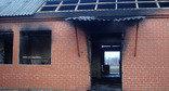 Сожженные дома родственников членов вооруженного подполья. Село Янди Ачхой-Мартановского района, 7 декабря 2014 г. Фото пресс-службы ПЦ «Мемориал»