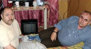 Пенсионеры, участвующие в голодовке с требованием вернуть приостановленную выплату по льготе на жилищно-коммунальные услуги. Зверево, Ростовская область, декабрь 2014 г. Фото: Bochkarev Grigory (RFE/RL)