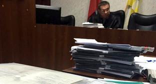 """В зале суда на заседании по делу Курман-Али Байчорова. Фото Ахмеда Альдебирова для """"Кавказского узла"""""""