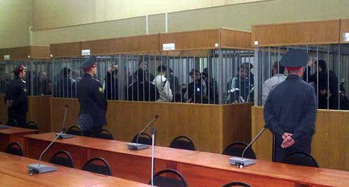"""Подсудимые в зале суда. Фото корреспондента """"Кавказского узла"""""""