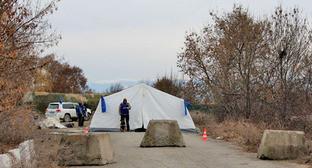 Административная граница Грузии и Южной Осетии. Село Эргнети. Фото: Zarina Sanakoeva (RFE/RL)