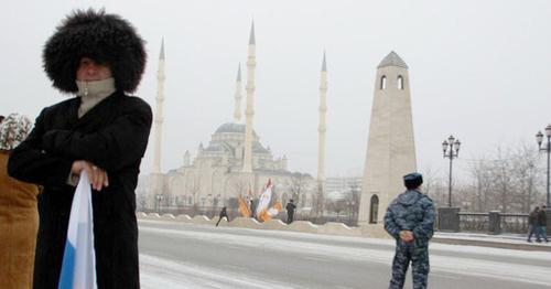 """Мечеть """"Сердце Чечни"""" в Грозном. Фото Магомеда Магомедова для """"Кавказского узла"""""""