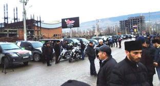 Участники автопробега Махачкала-Симферополь. Махачкала, 29 января 2015 г. Фото: М. Алиев http://dag.rus4all.ru/news/20150128/725690832.html