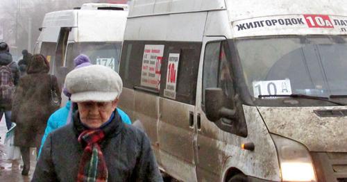 Маршрутное такси в Волгограде.
