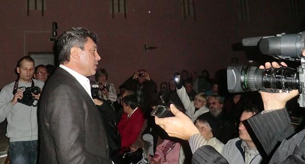 """Борис Немцов на """"Конференции гражданских активистов"""" 16 октября 2011 год, Краснодар. Фото Натальи Дорохиной для """"Кавказского узла"""""""