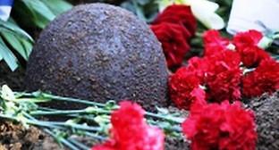 Каска времён ВОВ. Фото: http://bloknot-stavropol.ru/news/ostanki-pogibshikh-v-kieve-soldat-dostavili-v-stav-583526