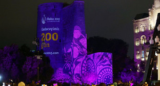 Презентация видео-ролика, посвященного евроиграм «БАКУ-2015». Фото: http://novosti.az/sport/20150206/301615216.html
