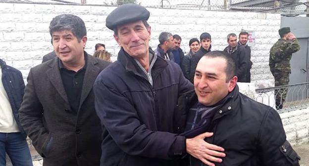 Башир Сулейманлы вышел на свободу. 19 марта 2015 г. Фото: RFE/RL http://www.radioazadlyg.org/