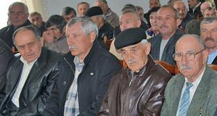 Участники собрания памяти жертв и пострадавших от техногенных и ядерных катастроф. Нальчик, апрель 2014 г. Фото: Союз «Чернобыль» России http://souzchernobyl.ru/index.php/2/2909.html